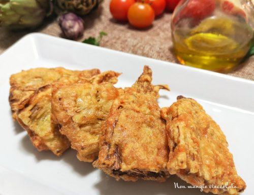 Carciofi fritti in pastella di provolone piccante