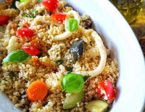 Cous cous con verdure e seppioline