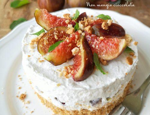Cheesecake ai fichi e amaretti (senza lattosio)