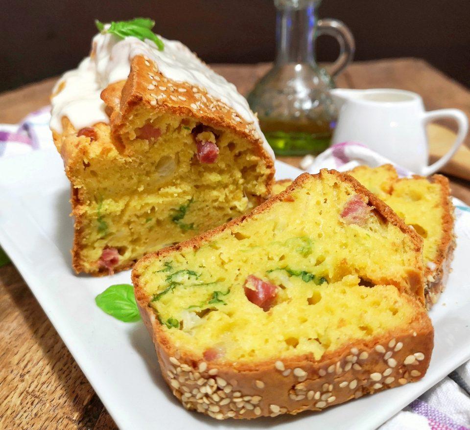 plumcake salato alla verza e pancetta