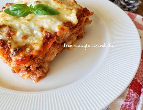 Lasagne al ragù con besciamella light