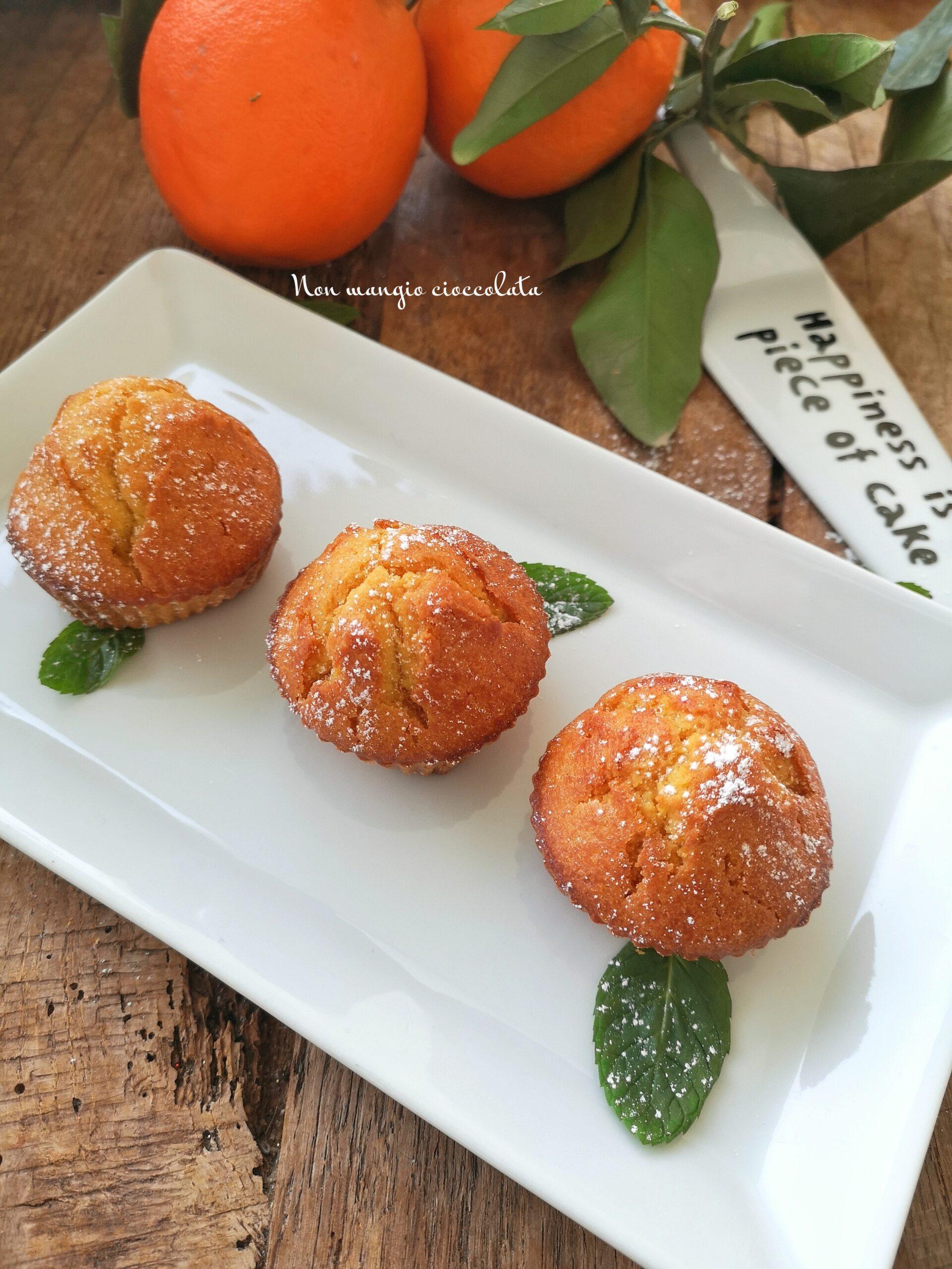 Muffin con succo di arancia