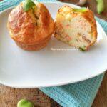 Muffin salmone affumicato e fave fresche