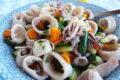 Insalata di totani e zucchine croccanti