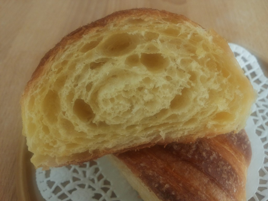 Croissant a doppio impasto con lievito madre