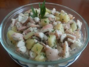Antipasto di moscardini e patate