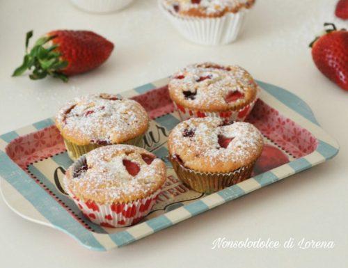 Muffin alle fragole e basilico