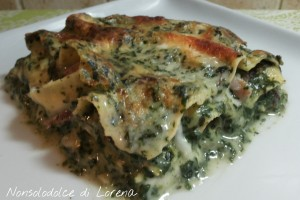 Lasagne con bietole e speck