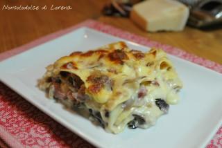 Lasagne alla trevigiana con salsiccia