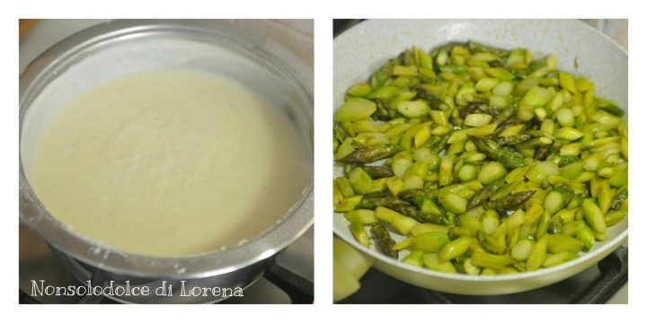 Lasagne con asparagi e prosciutto