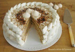Torta meringata al caffè