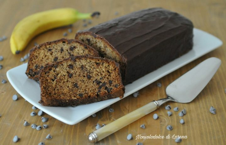 Plumcake alle banane e cioccolato