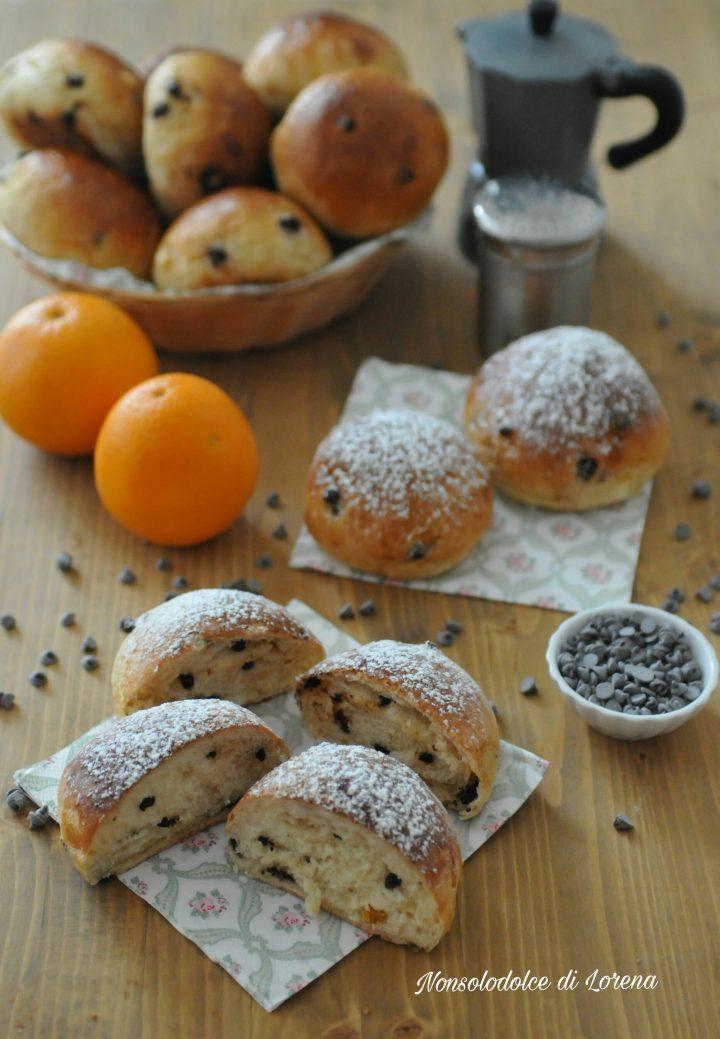 Pangoccioli arancia e cioccolato con lievito naturale