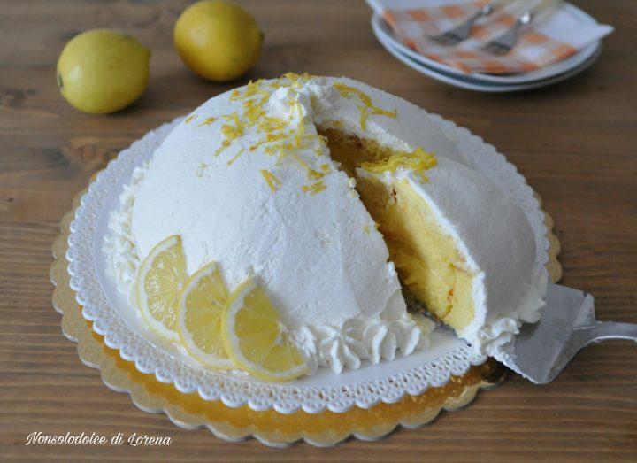 Zuccotto con crema al limone e panna | Nonsolodolce di Lorena
