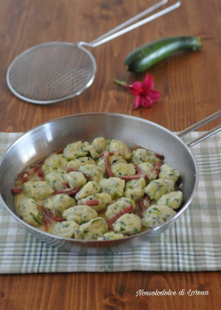 Gnocchetti Morbidi alle Zucchine e Speck