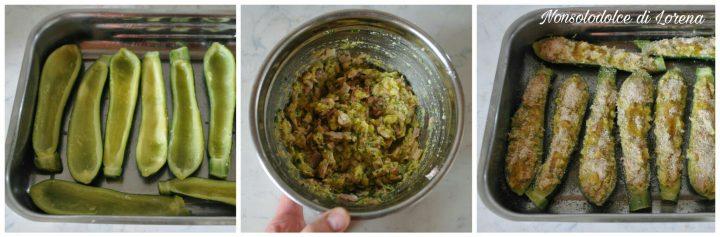 Barchette di zucchine al forno con zucchine