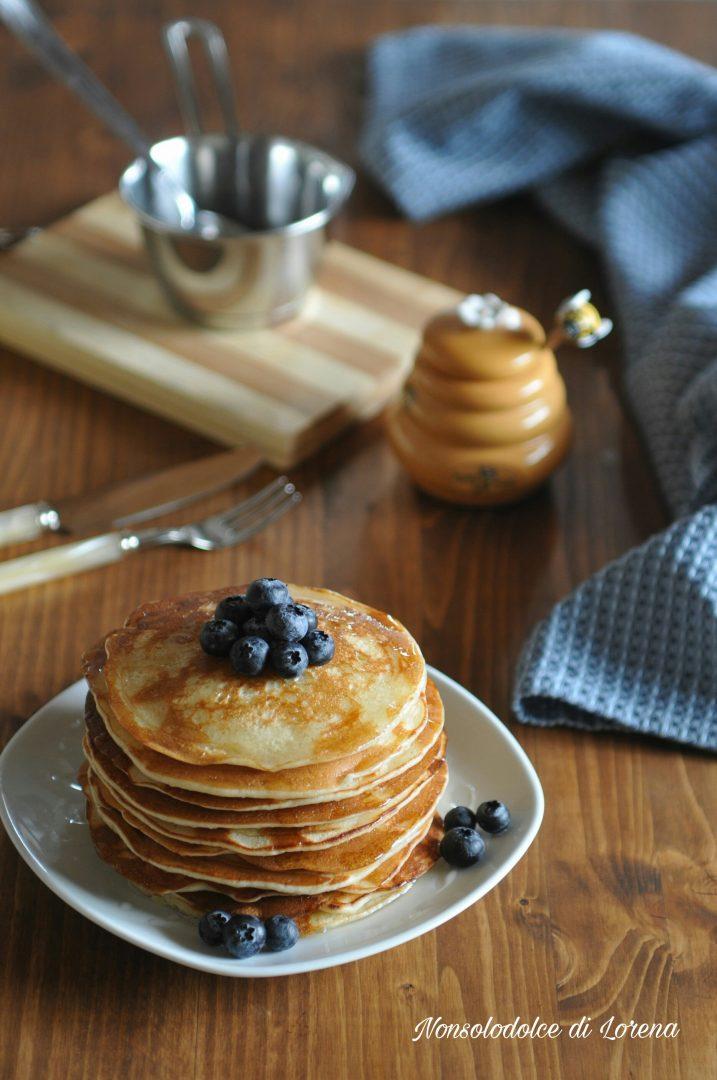 Pancakes ai Mirtilli con Esubero di Lievito Madre