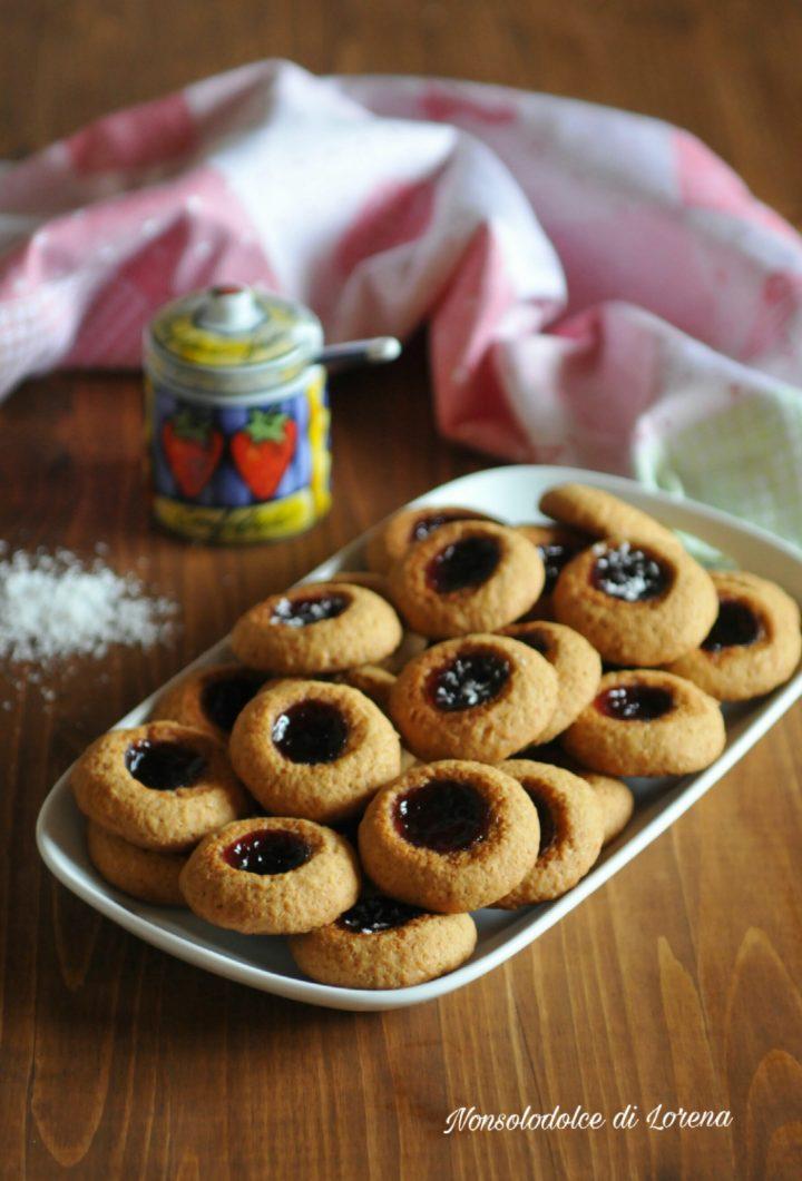 Biscotti al Cocco con Marmellata