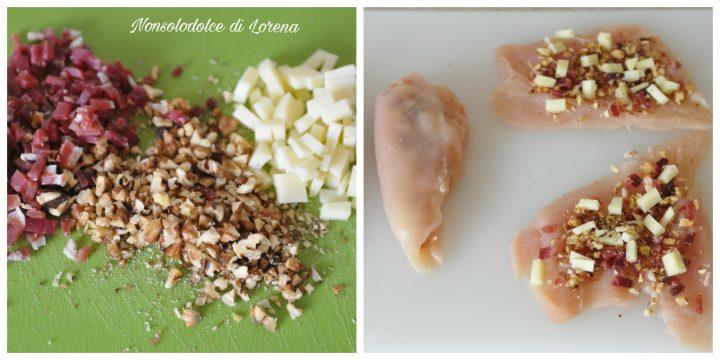 Petti di pollo impanati con noci e speck