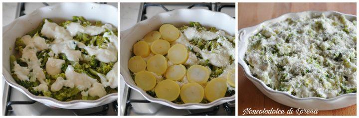 Teglia di broccoli e patate gratinati al forno
