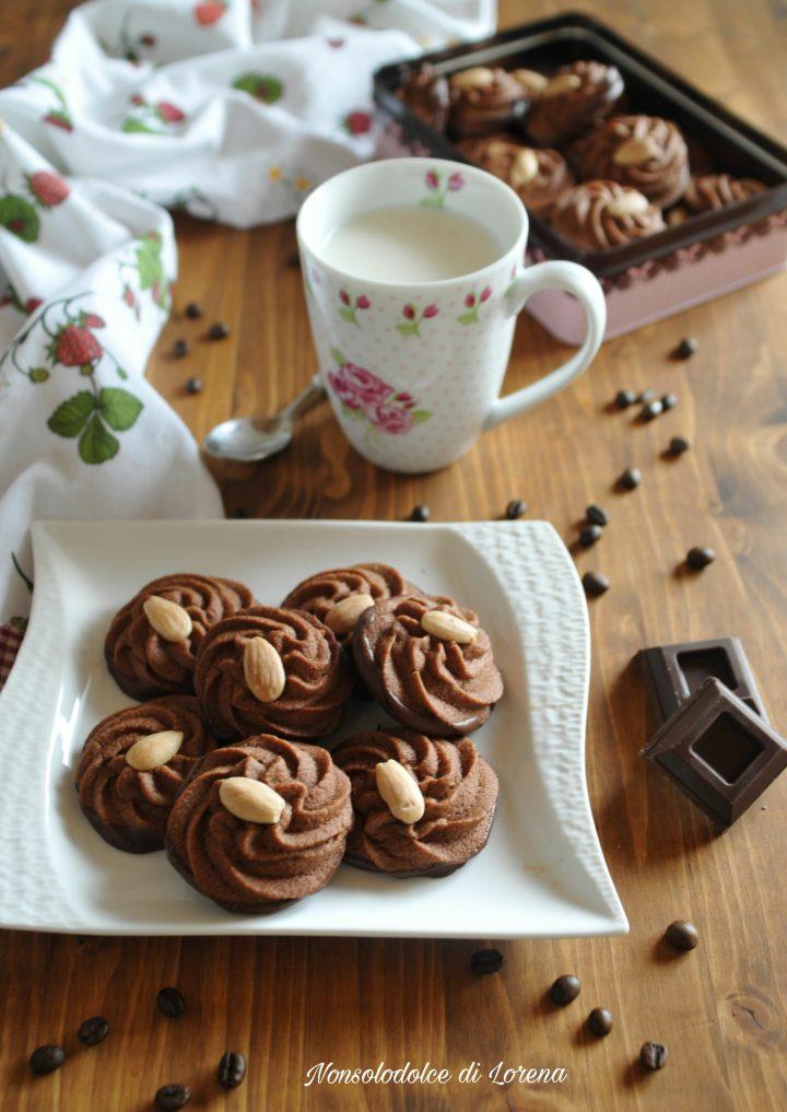 Biscotti Viennesi al Caffè e Cioccolato