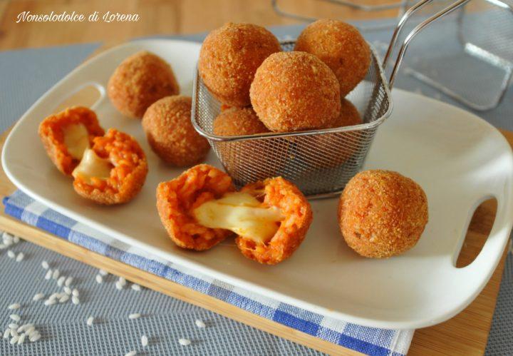 Crocchette di Riso al Pomodoro con Cuore Filante