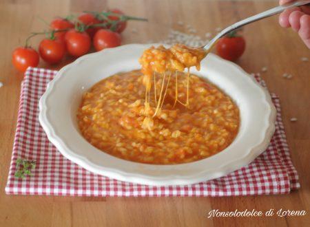 Risotto filante al pomodoro e mozzarella