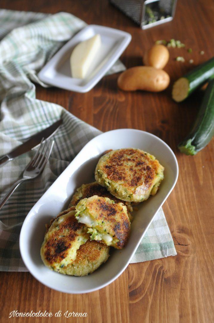 Focaccine Filanti di Patate e Zucchine