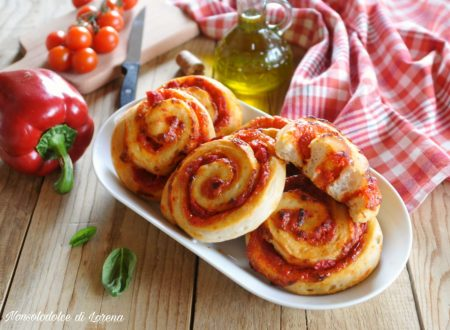 Girelle di pizza ai peperoni