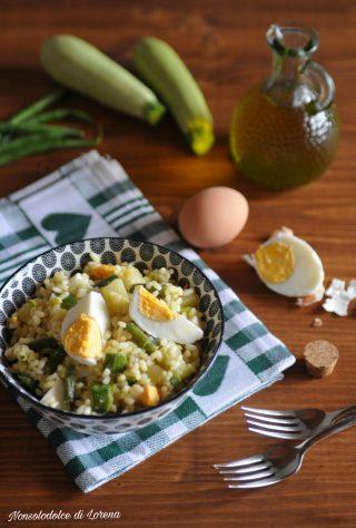 Insalata di Riso con Uova Sode e Verdure