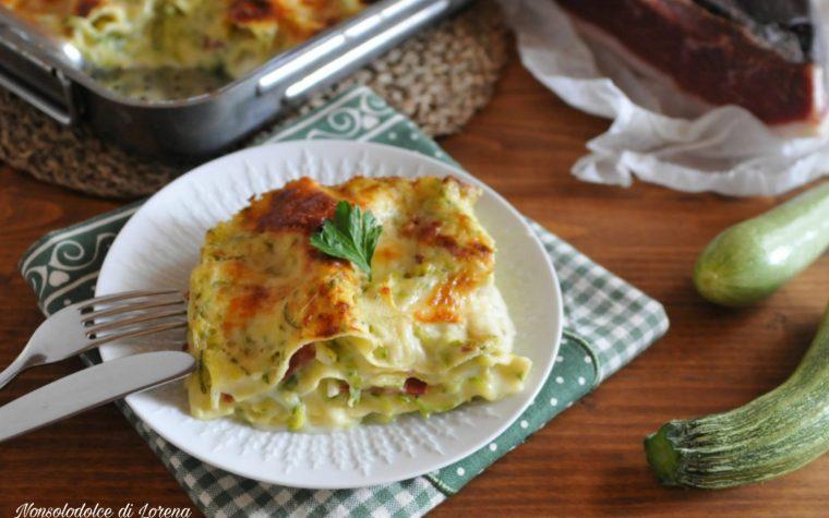 Lasagna bianca alle zucchine e speck