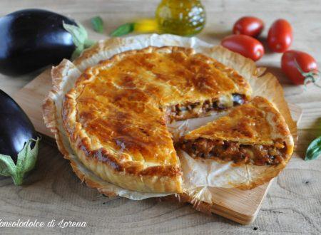 Torta rustica di melanzane alla parmigiana