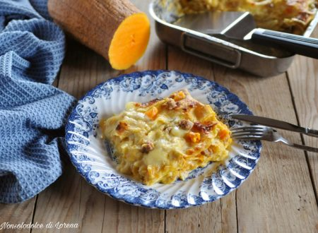 Lasagne con la zucca e salsiccia