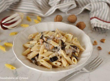 Pasta cremosa con radicchio e noci