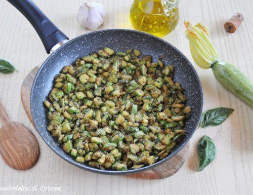 Zucchine sabbiose alle erbe aromatiche