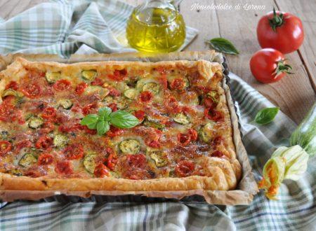 Sfogliata alle zucchine e pomodoro