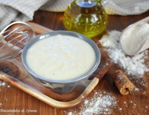 Salsa besciamella all'olio d'oliva