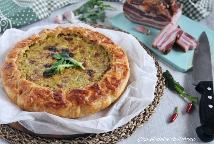 Torta rustica con broccoli e pancetta