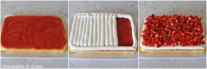 Torta bisquit alle fragole e mascarpone