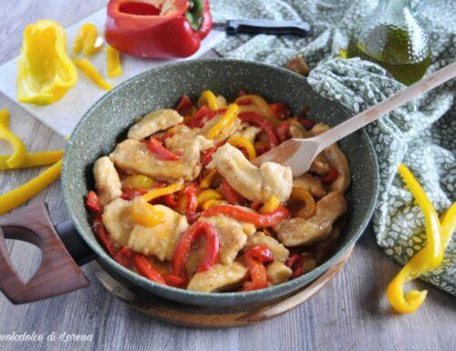 Straccetti di pollo cremosi con peperoni