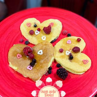 pancake di san valentino: per il brunch di san valentino