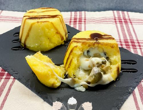 Tortini di polenta dal cuore filante