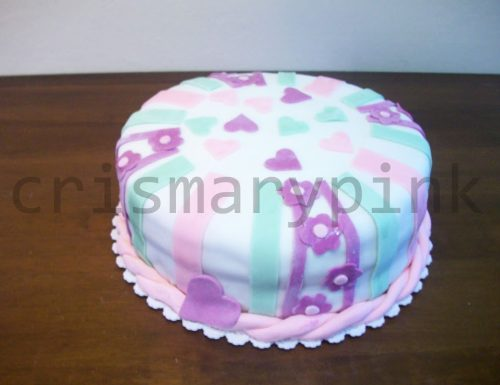 torta cuori e fiori