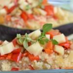 Barchette di melanzane ripiene di couscous