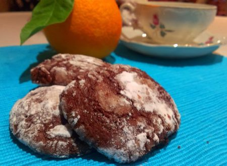 Chocolate crinkle all'arancia
