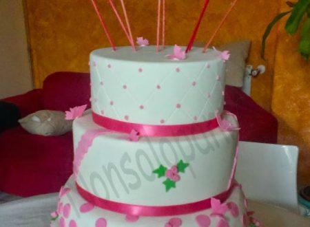 Pink butterflies cakes