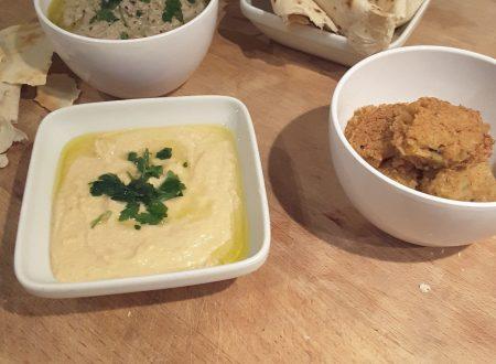 Hummus di ceci  e Baba Ganoush ,ricette dal medioriente