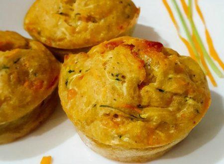 Muffin salati con carote e zucchine