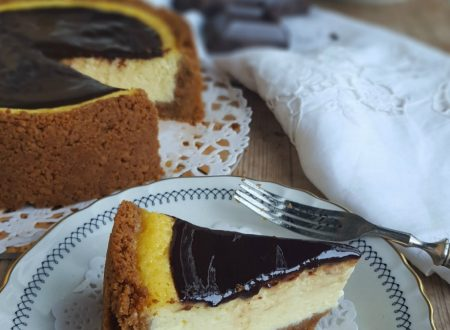 New York cheesecake con ganache al cioccolato