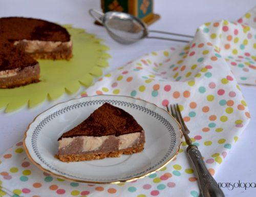 Cheesecake  al cioccolato fondente affogato al caffe'